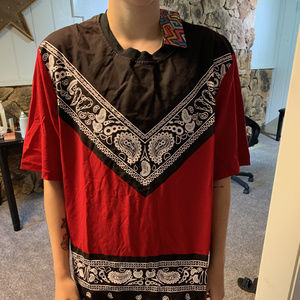 Bandana Shirt Red And Black